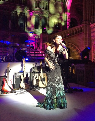 Lisa Stansfield Breast Cancer Pink Ribbon Ball at The Natural History Museum 2014