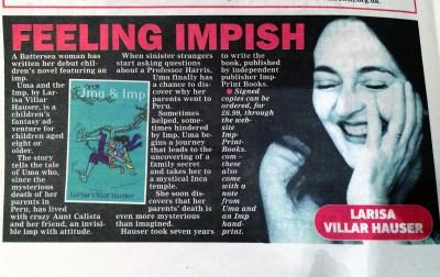Childrens author, Larisa Villar Hausers book Uma & Imp